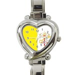 Flag_Vatican Heart Italian Charm Watch