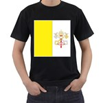 Flag_Vatican Black T-Shirt (Two Sides)