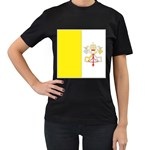 Flag_Vatican Women s Black T-Shirt (Two Sides)