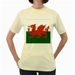 Flag_Wales Women s Yellow T-Shirt
