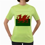 Flag_Wales Women s Green T-Shirt