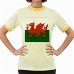 Flag_Wales Women s Fitted Ringer T-Shirt