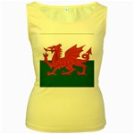Flag_Wales Women s Yellow Tank Top