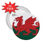 Flag_Wales 2.25  Button (10 pack)