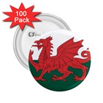 Flag_Wales 2.25  Button (100 pack)
