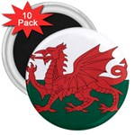 Flag_Wales 3  Magnet (10 pack)