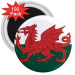 Flag_Wales 3  Magnet (100 pack)