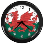 Flag_Wales Wall Clock (Black)