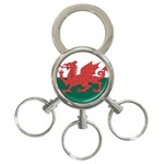 Flag_Wales 3-Ring Key Chain