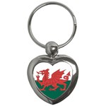 Flag_Wales Key Chain (Heart)