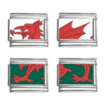 Flag_Wales 9mm Italian Charm (4 pack)