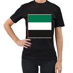 Flag_United Arab Emirates Women s Black T-Shirt