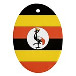 Flag_Uganda Ornament (Oval)