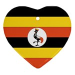 Flag_Uganda Ornament (Heart)