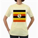 Flag_Uganda Women s Yellow T-Shirt