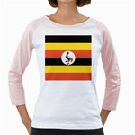 Flag_Uganda Girly Raglan
