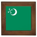 Flag_Turkmenistan Framed Tile