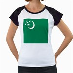 Flag_Turkmenistan Women s Cap Sleeve T