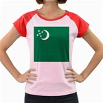 Flag_Turkmenistan Women s Cap Sleeve T-Shirt