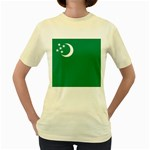 Flag_Turkmenistan Women s Yellow T-Shirt