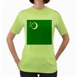 Flag_Turkmenistan Women s Green T-Shirt