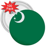 Flag_Turkmenistan 3  Button (100 pack)