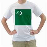 Flag_Turkmenistan White T-Shirt