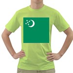 Flag_Turkmenistan Green T-Shirt
