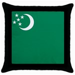 Flag_Turkmenistan Throw Pillow Case (Black)
