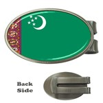 Flag_Turkmenistan Money Clip (Oval)