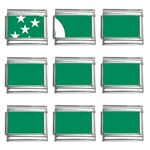 Flag_Turkmenistan 9mm Italian Charm (9 pack)