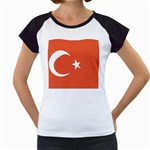 Flag_Turkey Women s Cap Sleeve T