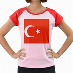 Flag_Turkey Women s Cap Sleeve T-Shirt