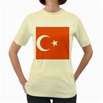 Flag_Turkey Women s Yellow T-Shirt
