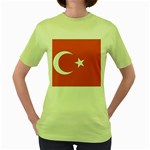 Flag_Turkey Women s Green T-Shirt
