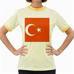 Flag_Turkey Women s Fitted Ringer T-Shirt