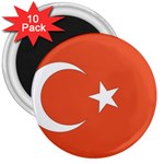 Flag_Turkey 3  Magnet (10 pack)
