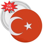 Flag_Turkey 3  Button (100 pack)