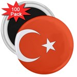Flag_Turkey 3  Magnet (100 pack)