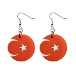 Flag_Turkey 1  Button Earrings