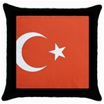 Flag_Turkey Throw Pillow Case (Black)