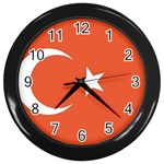 Flag_Turkey Wall Clock (Black)