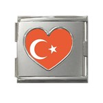 Flag_Turkey Mega Link Heart Italian Charm (18mm)