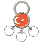 Flag_Turkey 3-Ring Key Chain