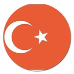 Flag_Turkey Magnet 5  (Round)