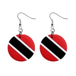 Flag_Trinidad & Tobago 1  Button Earrings