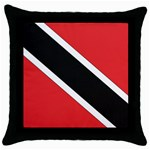 Flag_Trinidad & Tobago Throw Pillow Case (Black)