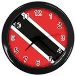 Flag_Trinidad & Tobago Wall Clock (Black)