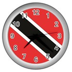 Flag_Trinidad & Tobago Wall Clock (Silver)