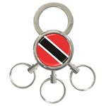 Flag_Trinidad & Tobago 3-Ring Key Chain